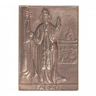 Namenstag Fabian 8 x 6 cm Bronzeplakette Bronzerelief Wandbild Schutzpatron