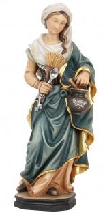 Heilige Martha Holzfigur geschnitzt Südtirol Schutzpatronin Jüngerin Jesu