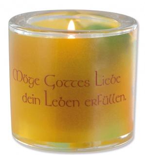 Glaswindlicht Gottes Liebe Teelicht Kerzenhalter Geschenkbox Glas für Windlicht