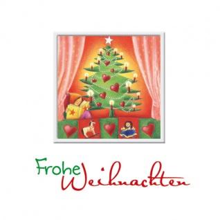 Weihnachtskarte Tannenbaum Frohe Weihnachten (3 Stck) Kuvert Grußkarte