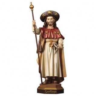 Heiliger Jakobus der Pilger Heiligenfigur Holz geschnitzt Südtirol