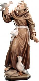 Heiliger Franziskus von Assisi Holzfigur geschnitzt Südtirol Schutzpatron