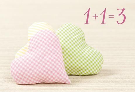 Glückwunschkarte Geburt Herzen 6 Stck Liebe Baby Familie Ankunft Gemeinsamkeit