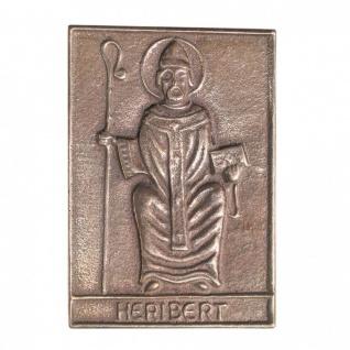 Namenstag Heribert 8 x 6 cm Geschenk Bronzerelief Wandbild Schutzpatron