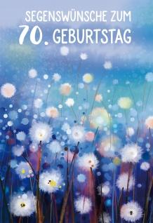 Glückwunschkarte 70. Geburtstag Psalm Blumen 6 St Kuvert Bibelwort Schutz Gott