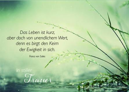 Trauerkarte In stiller Trauer Franz von Sales (6 Stck) Beileidskarten Kondolenz