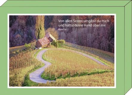 Grußkarten Geschenkbox Bibelwort 4 Motive á 2 Stück Kuvert Psalm Lutherbibel Gott