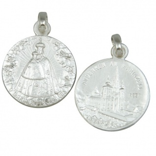 Anhänger Madonna Mariazell Kirche Ø 1, 5 cm Sterlingsilber