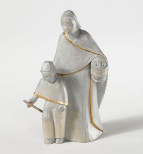 Hirtin mit Kind Bauer-Krippe Holz geschnitzt 18 cm Krippen Figur Weihnachten