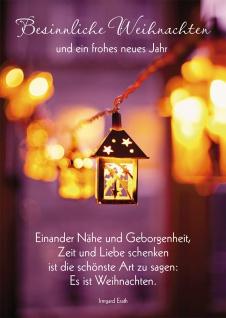 Postkarte Besinnliche Weihnachten ein frohes neues Jahr Adressfeld (10 Stück)