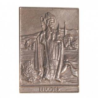 Namenstag Ludger 8 x 6 cm Bronzeplakette Bronzerelief Wandbild Schutzpatron