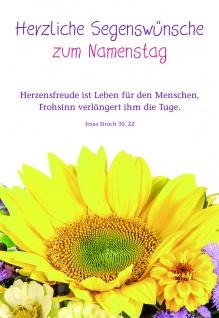 Namenstagskarte Jesus Sirach Herzliche Segenswünsche zum Namenstag (6 Stck)