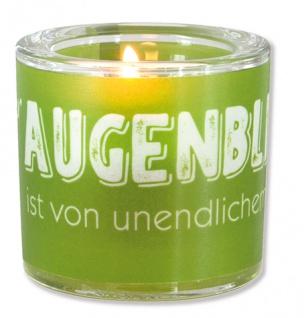 Glaswindlicht Augenblick Teelicht Kerzenhalter Geschenkbox Glas für Windlicht