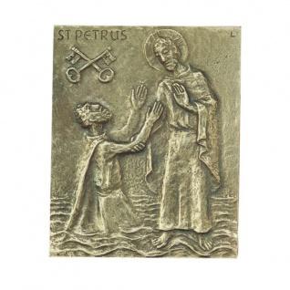 Namenstag Petrus Peter Petra Pit Bronzeplakette 13x10 cm