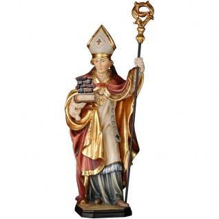 Heiliger Emidius Holzfigur geschnitzt Südtirol Schutzpatron Bischof