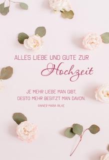 Glückwunschkarte Hochzeit Rosen 6 St Kuvert Liebe Geben Teilen Ehe Gemeinsamkeit