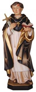 Heiliger Petrus von Verona mit Schwert Holzfigur geschnitzt Südtirol Schutzpatron