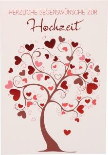 Glückwunschkarte Hochzeit Korinther Segen 6 St Kuvert Bibelwort Herz Liebe