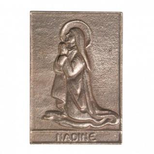 Namenstag Nadine 8 x 6 cm Bronzeplakette Bronzerelief Wandbild Schutzpatron