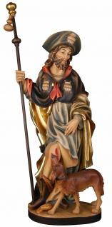 Heiliger Rochus mit Hund Holzfigur geschnitzt Südtirol Schutzpatron