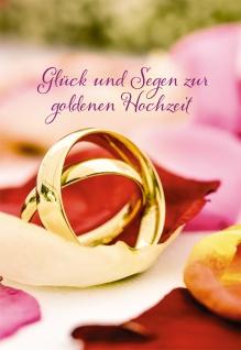 Hochzeitskarte Glück und Segen zur goldenen Hochzeit (6 Stck) Grußkarte Kuvert