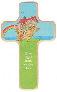 Kreuz für Kinder Arche Noah 18 cm Geschenkbox Kruzifix Holz-Kreuz