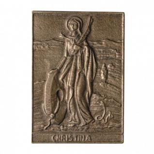 Namenstag Christina 8 x 6 cm Bronzeplakette