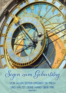 Postkarte Geburtstag Sonnenuhr 10 St Adressfeld Bibelwort Schutz Begleitung