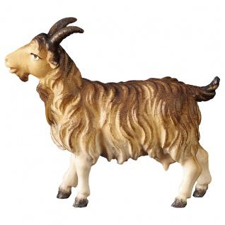 Ziege Holzfigur geschnitzt Südtirol Krippenfigur Ulrich Krippe