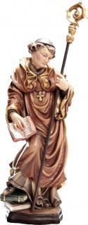 Heiliger Hugo von Cluny Holzfigur geschnitzt Südtirol Schutzpatron