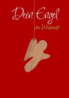 Weihnachtskarte Engel Anhänger Holz Dein Engel der Weihnacht (5 Stck) Kuvert