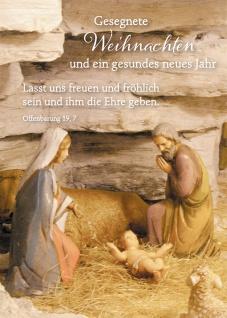 Postkarte Offenbarung Lutherbibel Gesegnete Weihnachten neues Jahr (10 Stück)