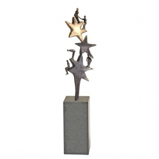 Skulptur Dank an unser Team 20 cm Granitsockel Mitarbeitergeschenke - Vorschau