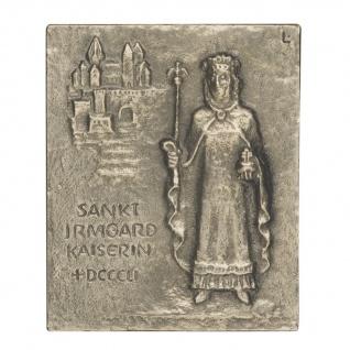 Namenstag Irmgard Bronzeplakette 13 x 10 cm Bronzerelief Wandbild Schutzpatron