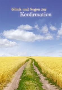 Konfirmation Grußkarte Glück und Segen zur Konfirmation (6 Stck) Bibel Johannes