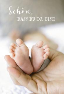 Glückwunschkarte Geburt Hände Füße 6 St Kuvert Baby Erwartung Sehnsucht Liebe