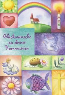 Kommunionkarte Glückwünsche zu deiner Kommunion (6 Stck) Grußkarte Erstkommunion