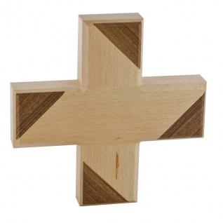 Wandkreuz Holzkreuz Buche massiv Nussbaumholz Kruzifix Kreuz 13 x 13 cm