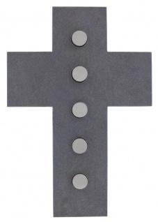 Wandkreuz Schiefer Kreuz Edelstahl 21 cm Naturschiefer Kruzifix Christlich