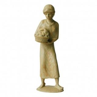 Hirtin Obstkorb Bauer-Krippe 17 cm handgeschnitzt Krippen Figur Weihnachten