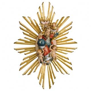 Gloriole Gottvater mit Heiligenschein Holz geschnitzt Südtirol