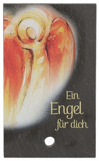 Engel Bild Schiefertafel Ein Engel für dich Holzstab zum Aufstellen 10 cm