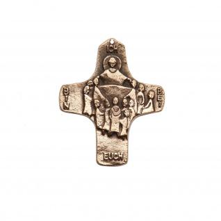 Wandkreuz Ich bin bei euch Bronze 8 cm Erstkommunion Kreuz Edition Schäfer