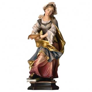 Heilige Agatha von Catania mit Brüsten Holzfigur geschnitzt Heiligenfigur