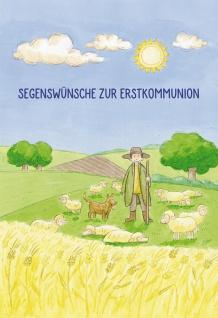 Glückwunschkarte Segenswünsche zur Erstkommunion (6 St) Grußkarte Kuvert