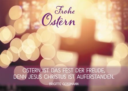 Postkarte Frohe Ostern (10 St) Kreuz Brigitte Goßmann Grußkarte