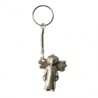 Schlüsselanhänger Engel 6 cm Neusilber Schutzengel Anhänger