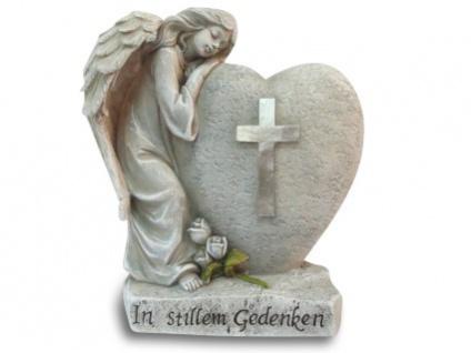 Schlafender Herz Engel In stillem Gedenken 16, 5 cm Grabschmuck Grabdekoration