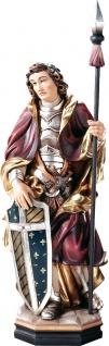 Heiliger Edwin Holzfigur geschnitzt Südtirol König von Northumbrien