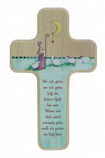 Kinderkreuz Guter Hirte Holz 18 cm Wandkreuz Kruzifix Holzkreuz